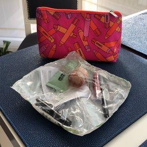Clinique makeup bag and samples